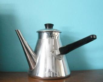 chromed side handle kettle / teapot
