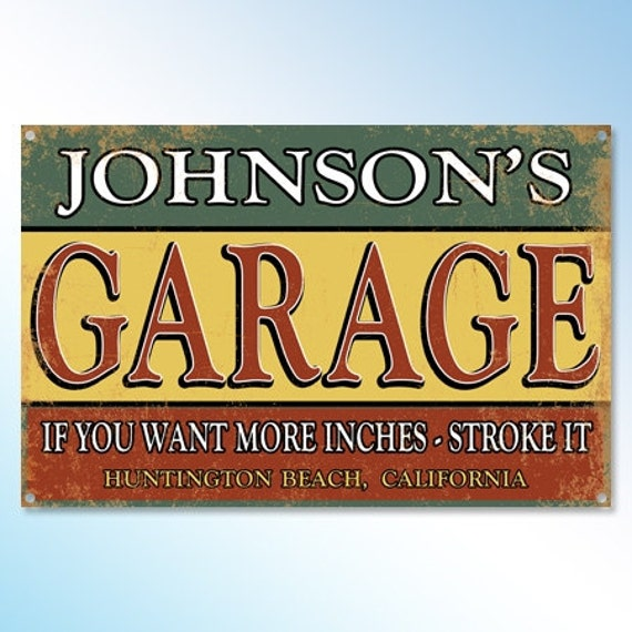 Funny Garage Signs : Personalized funny metal garage sign  mechanic