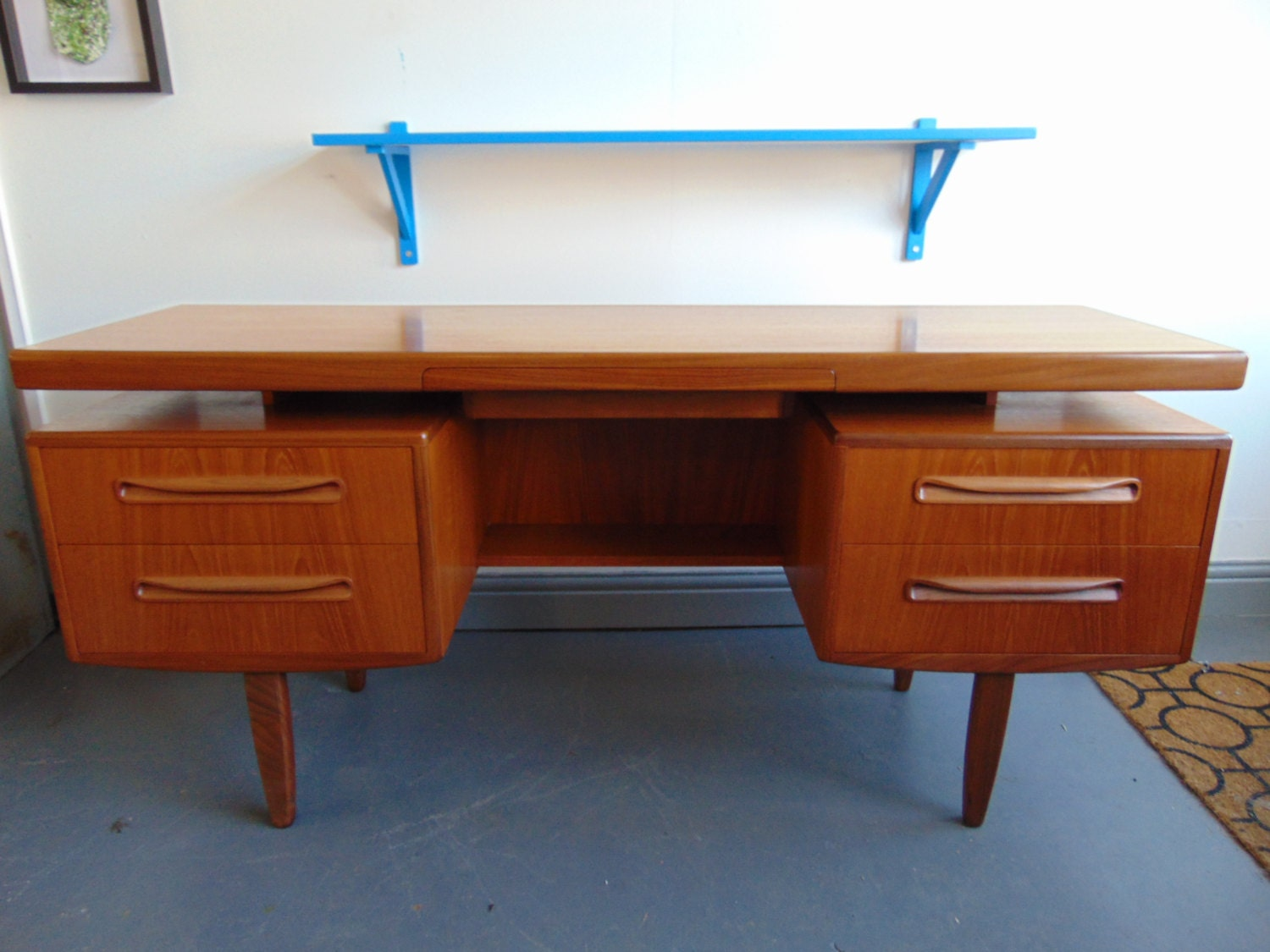 Teak and walnut floating desk by g plan by kingdomfurnishings for Floating desk for sale