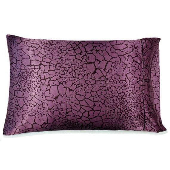 Plum Charmeuse Satin Standard Pillowcase. The Best Pillowcase