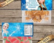 Frozen Treat Bags! Digital Download! Kisses to Melt a frozen Heart!