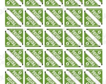 Set of 60 Payday Stickers for Various Calendars, Planners, and Journals