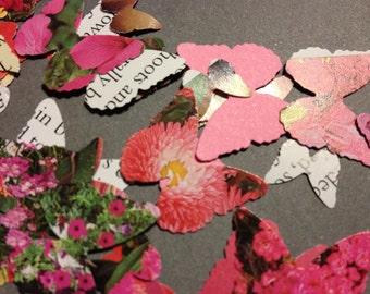 Garden Butterflies Table Confetti - Red/Pink
