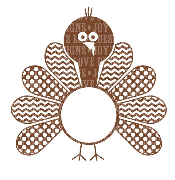Items Similar To Turkey Monogram Includes Girl Version SVG And DXF Digital Download On Etsy