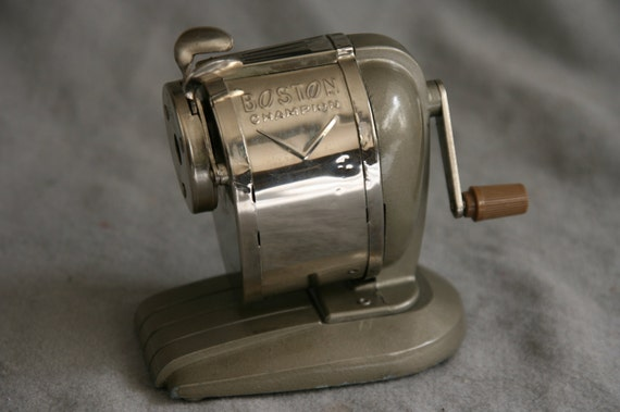 Boston Champion Pencil Sharpener Vintage Manual Hand Crank