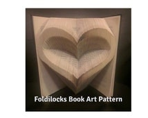 Heart Folded Book Art **Pattern**PDF and instructions/ tutorial  Book Folding