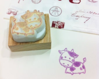 milk cow rubber stamp.milk cow hand carved rubber stamp.milk cow stamp.