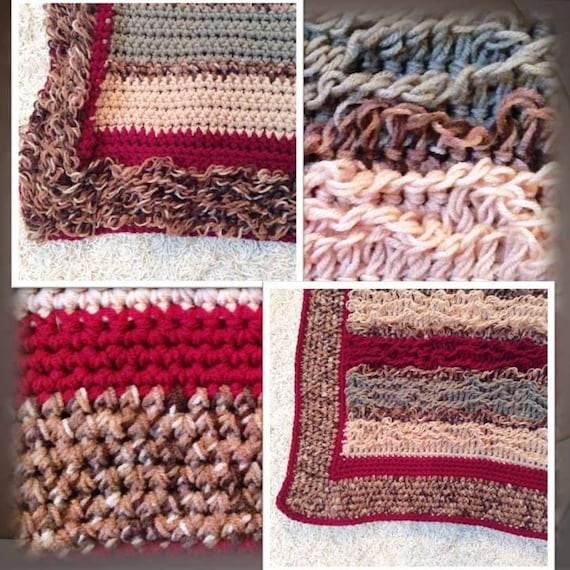 Crochet Pattern, Reversible Throw Rug From