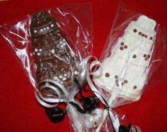 20 Chocolate WEDDING CAKE Lollipop Party Favors