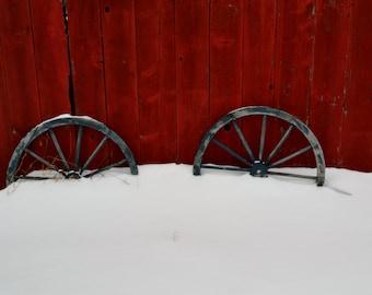 Snowy Wagon Wheels in Michigan