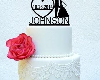Custom Modern Wedding Cake Topper 6' (item number 10012)