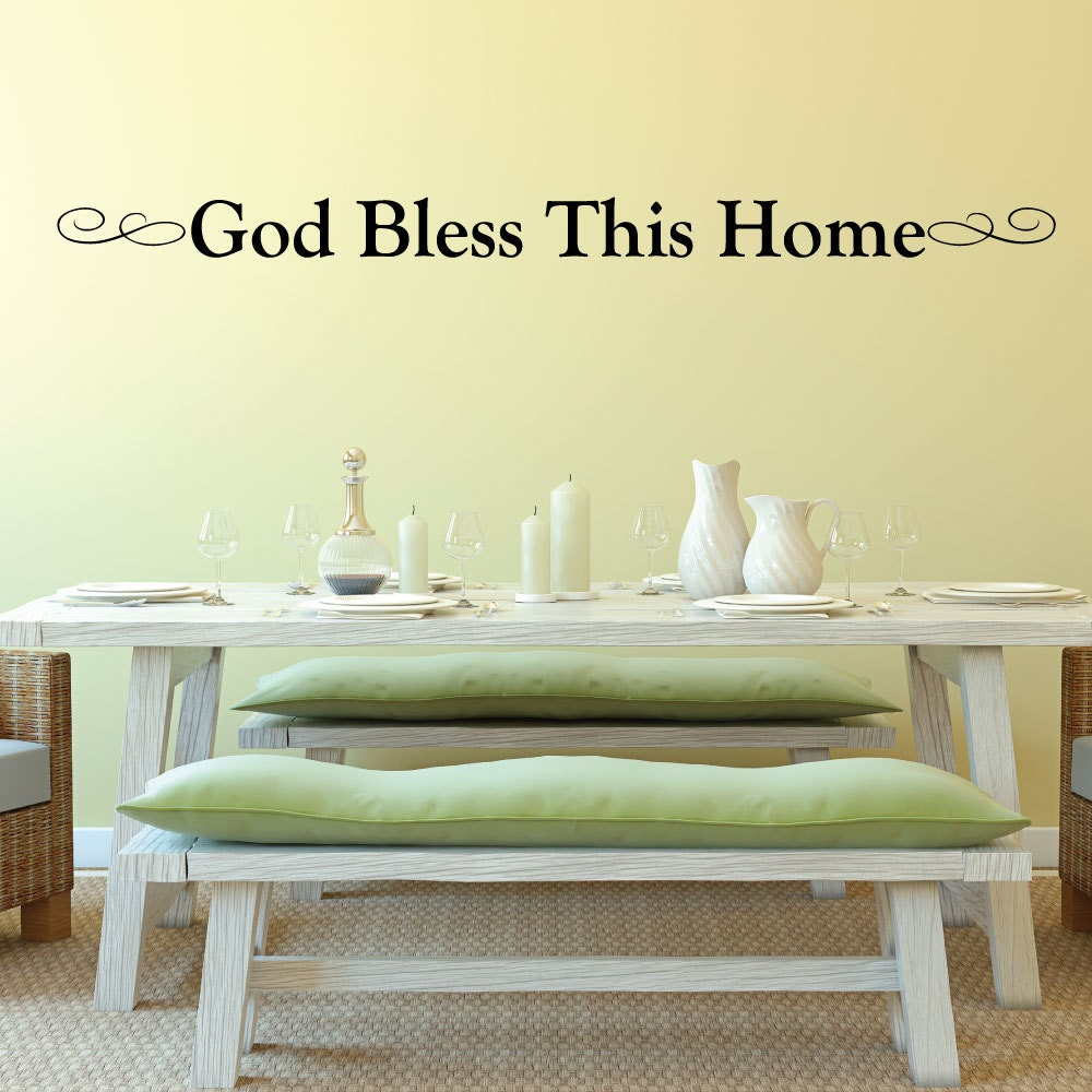 god bless this home wall decor 0034 wall decals wall. Black Bedroom Furniture Sets. Home Design Ideas