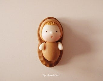 Peanut fairy (Handmade with air dry clay)