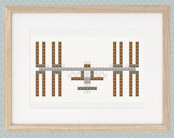 International Space Station ISS Cross Stitch Pattern