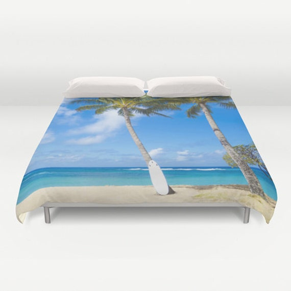 decorative duvet cover with palm tree and von ellensmilephoto. Black Bedroom Furniture Sets. Home Design Ideas