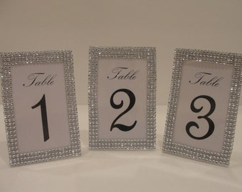 3 silver tone bling rhinestone table picture frame photo 4 x 6 wedding shower quinceanera bridal birthday decoration party event
