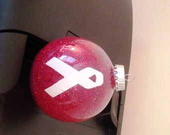 Lung Cancer Awareness Ornament