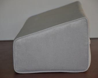Daybed Wedge Bolster Cover Antique Velvet  Grey