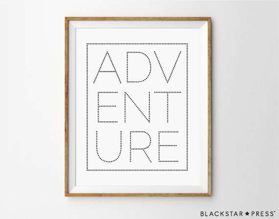 Adv ent ure adventure quote travels gallery wall by for Travel gallery wall ideas