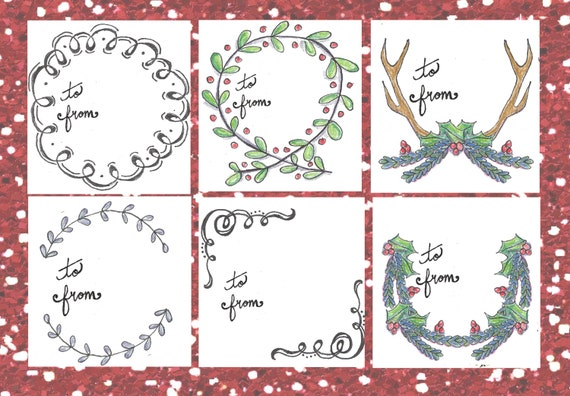 Printable christmas gift tags four sets of hand drawn printable christmas gift tags they are now for sale on my etsy shop or by visiting my shop page here on the site negle Image collections