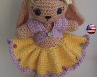 Lovely amigurumi bunny-rabbit pattern