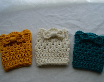 Girls Boot Cuffs 1 Pair- Pick Color and Size- Made to Order