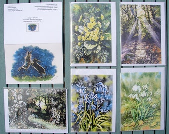 High quality, professionally printed Greetings Cards. X 4 in a pack of any of the 30+ different ones. Pick n Mix.