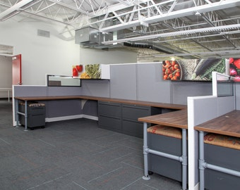 Refurbished Office Cubicles | Used Cubicles | Remanufactured Office Cubicles | Refurbished Workstations | Commercial Office Furniture |Cubes