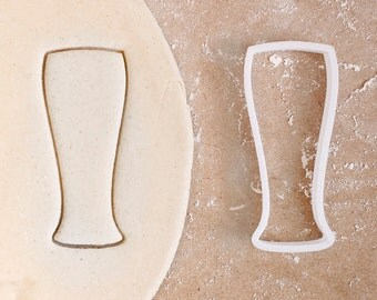Beer Glass Cookie Cutter - Different Sizes Alcohol Drink Jar Pilsner Irish St Patrick Duff - 3D Printed