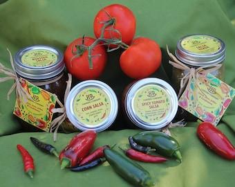 Homemade Salsa Varieties - Vegan, gluten free
