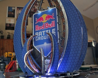Custom Large Trophy Made from Metals wtih LED Lighting & Printed Accents