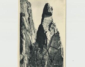 Climbing The Needle, Great Gable - English Lake District, Vintage Real Photo Postcard - United Kingdom