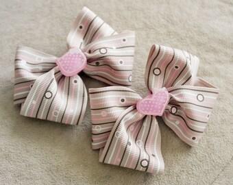 Pair of Soft Purple Hair Bow Clip