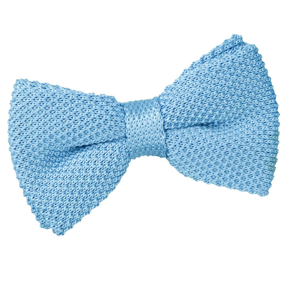 Knitted Baby Blue Bow Tie By Dqtuk On Etsy