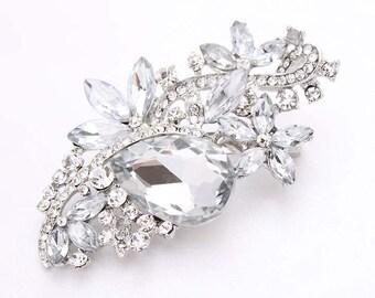Wedding Brooch, Rhinestone Bridal Brooch, Dress Sash Brooch, Bouquet Brooches, Diamante Rhinestone Brooch, Crystal Cake Decor