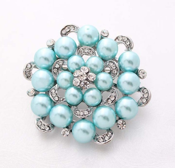tiffany blue bridal pin