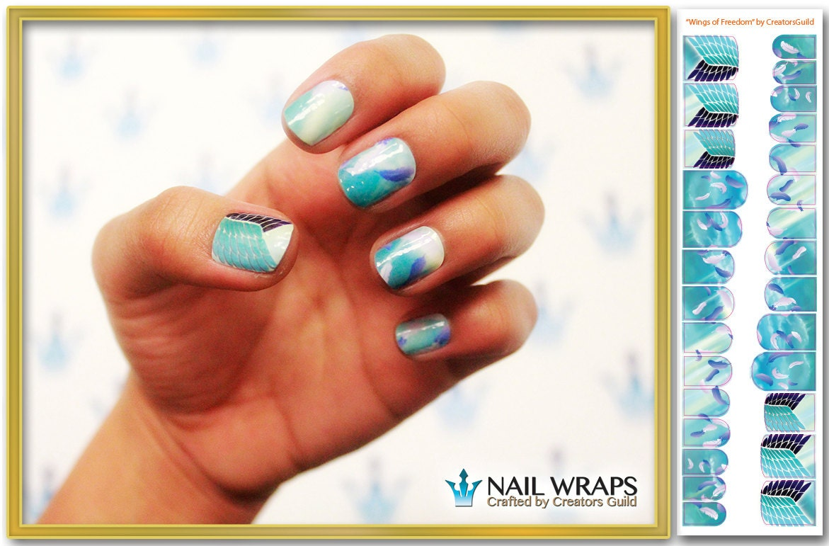 Today Live Sports: Wings of Freedom\' - Attack On Titan inspired Nail ...