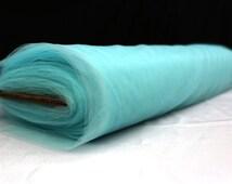 "Aqua Tulle 54"" and 108'' inch BY THE YARD Soft Tutu Fabric Nylon Wedding Decoration Bolt Pew"