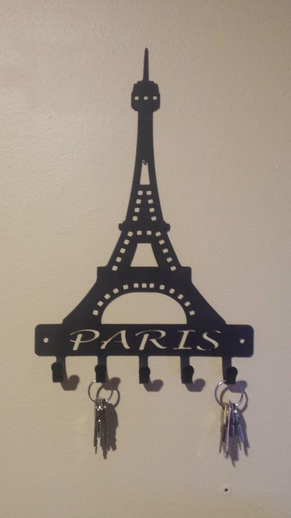 CNC Cut Eiffel Tower Paris Key Holder / Key Chain / Necklace / Jewelery Holder
