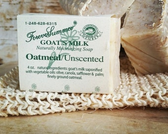 Oatmeal/Unscented Goat's Milk Soap