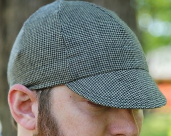 Cycling caps made out of recycled wool pants.