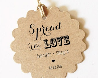 Custom gift tags Spread the LOVE Tag Wedding Favor Tag Wedding Gift Tags Wedding Spread the Love Jam Labels Canning Labels Wedding Tags