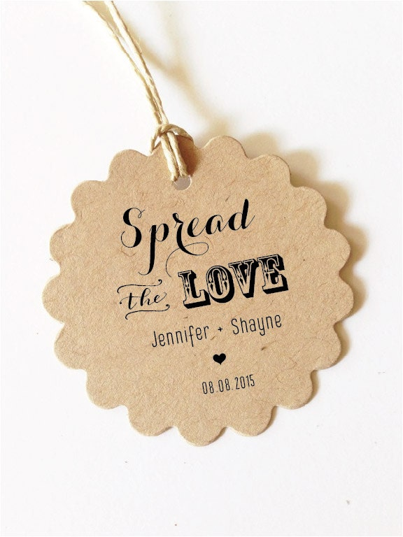 Custom gift tags Spread the LOVE Tag Wedding Favor Tag Wedding