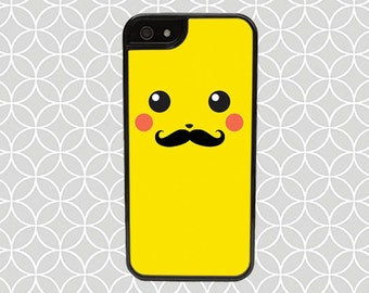 Pikachu With Mustache -iPhone 6/6s, iPhone 6/6s Plus, iPhone 5/5s, iPhone 5c, iPhone 4/4s, iPod 4/5, Samsung Galaxy S3, S4, S5, S6