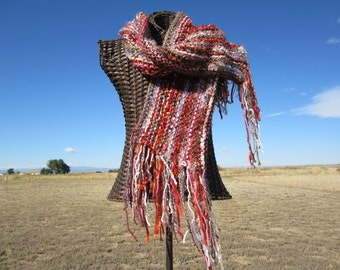 Autumn Rust Multi Colored Scarf