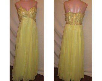 Yellow long gown #7534