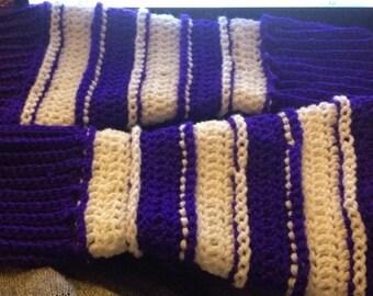 Cute Crochet Long Stripy Armwarmers (adults)