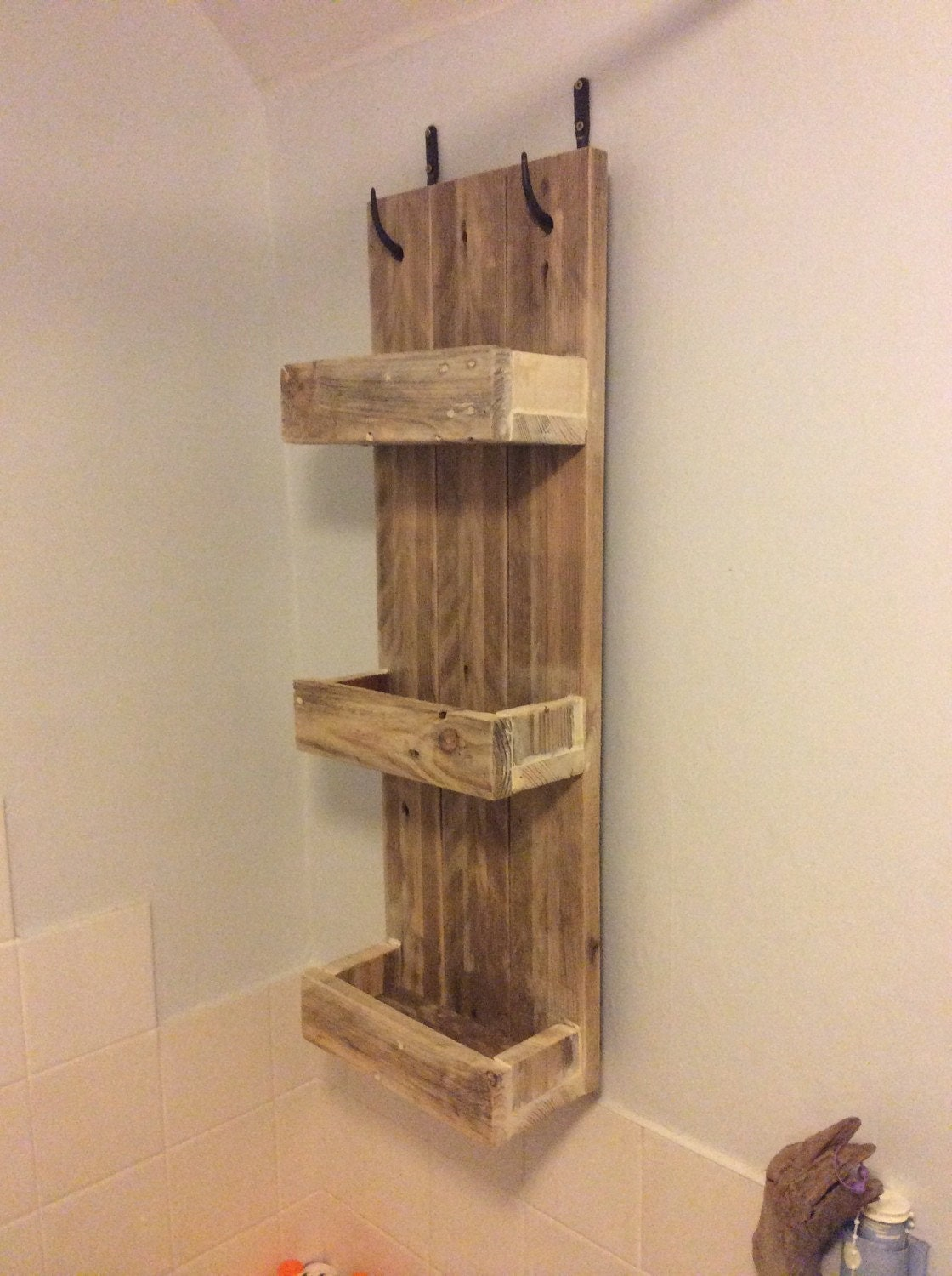 Amazing photo of Rustic Bathroom Shelves made from reclaimed by PalletGenesis with #BA3911 color and 1120x1500 pixels