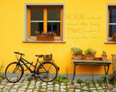Bicycle Photo with Quote, Bicycle Quote, Quotable Art, Bike Quote, Bike Photograph with Quote, Photo of a Bike, Germany, Yellow Print, Bike