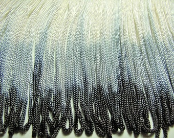 Dip dyed chainette fringing